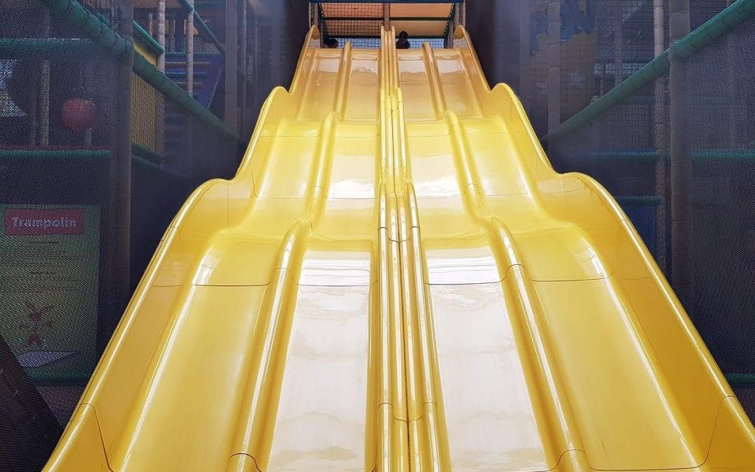 large children's slide